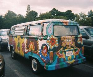 hippie, car, and vans image