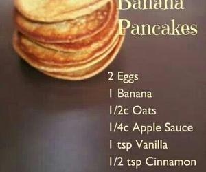pancakes, healthy, and banana image