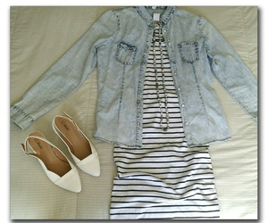 beads, denim, and shoes image