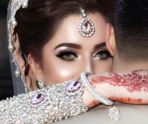 bride, eyes, and wedding image