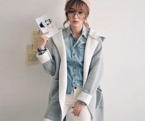 aesthetic, bangs, and korean image