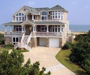 house, beach, and home image