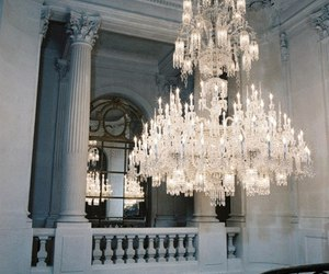 chandelier, light, and white image