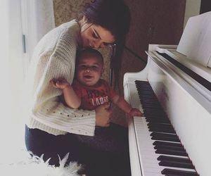selena gomez, baby, and piano image