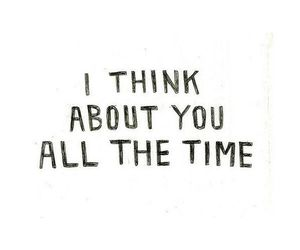love, you, and think image