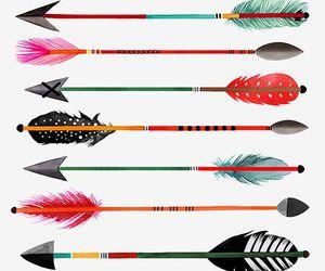 art, draw, and flechas image