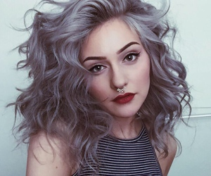 hair, makeup, and grunge image