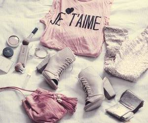 je t'aime, cute, and pink image