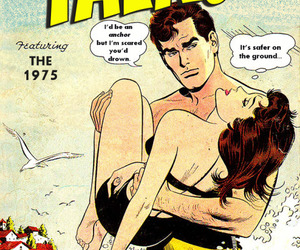 the 1975 and comic image