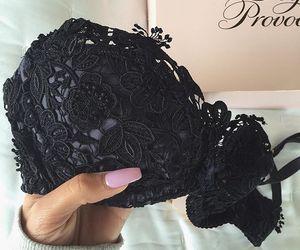 fashion, black, and bra image