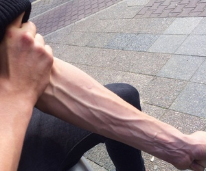 arm, man, and pale image