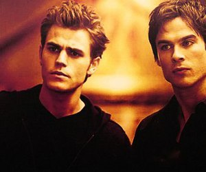 stefan salvatore, damon salvatore, and paul wesley image
