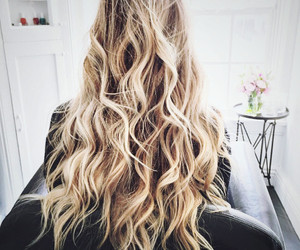 blonde, curls, and hair style image