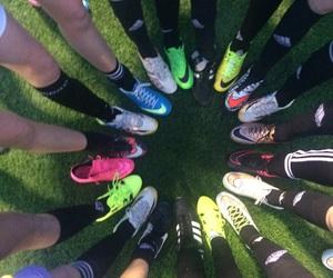 addidas, nike, and soccer image