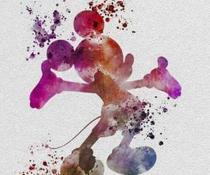disney, art, and mickey image
