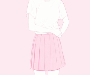 pink, girl, and manga image