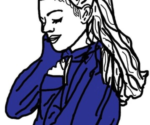 black, blue, and outlines image