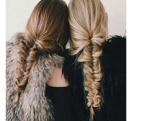 braids, friendship, and hair image