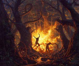 art, dancing, and fantasy image