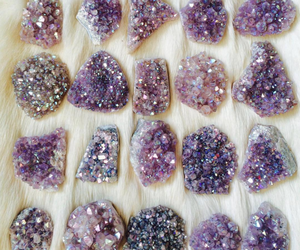 crystal, stone, and purple image