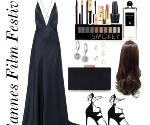 outfit, Polyvore, and cannes film festival image