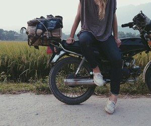 girl, motorcycle, and fashion image
