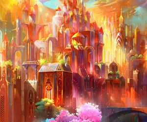 beautiful, castle, and fantasy image