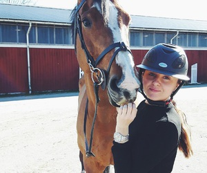 equestrian, girl, and happy image