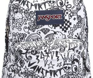 bag, black and white, and fashion image