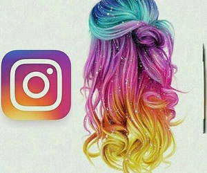 instagram, hair, and drawing image