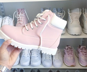 shoes, pink, and pastel image