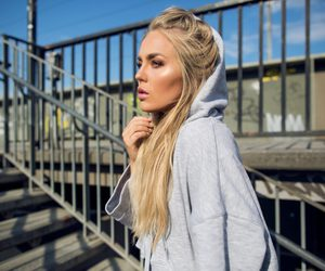 blonde, angelica blick, and curly hair image