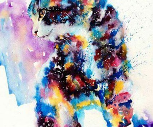 art, cat, and kittie image