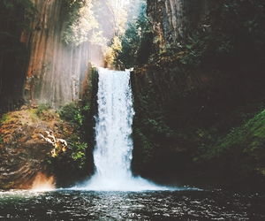heart, waterfall, and place image