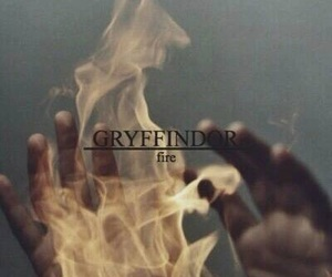 gryffindor, harry potter, and fire image