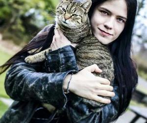 cat and metalhead image
