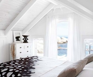 beach house, bedroom, and inspiration image