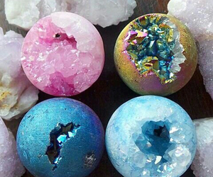 crystal, colors, and pink image