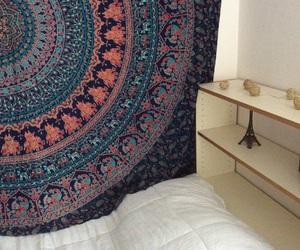 bed room, bedroom decor, and mandala image