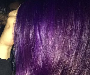 color, purple, and hair image