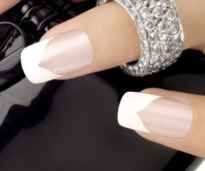 nail art, nail polish, and french manicure image