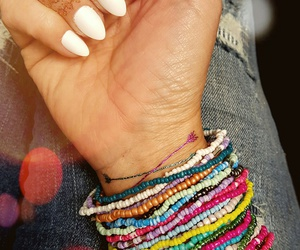 bracelets, temporary tattoos, and summer image
