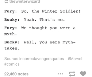 funny, me, and bucky barnes image