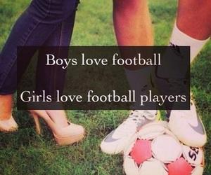football, boy, and girl image