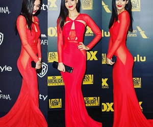 victoria justice, dress, and red image