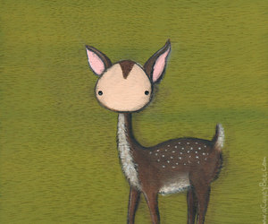animal art, forest creature, and kids room image