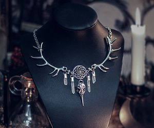 crystal, dreamcatcher, and jewelry image