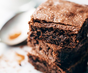 brownies, chocolate, and dessert image