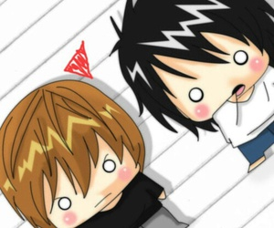 anime, chibi, and death note image
