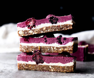 food, blackberry, and dessert image